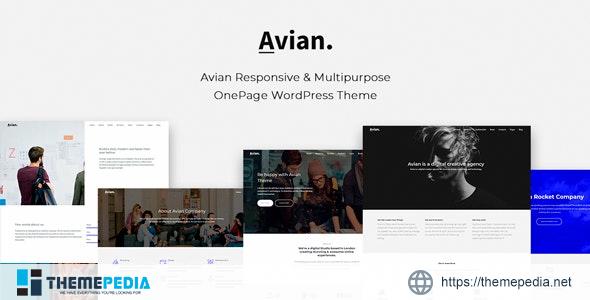 Avian – Responsive and Multipurpose OnePage WordPress Theme [nulled]