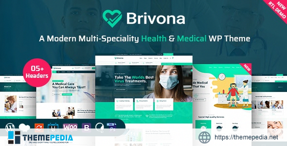 Brivona – Medical, Health and Hospital WordPress Theme [Free download]