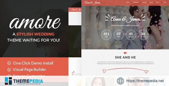 Amore Wedding – WordPress Theme for Weddings [Updated Version]
