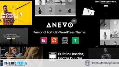 Anevo – Personal Portfolio WordPress Theme [Free download]
