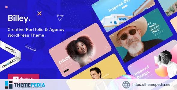 Billey – Creative Portfolio & Agency Elementor WordPress Theme [Free download]