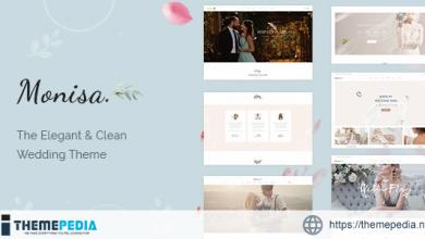 Monisa – Elegant & Clean Wedding Theme [Free download]