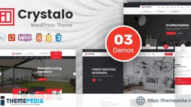 Crystalo – Architecture and Interior Design WordPress Theme [Free download]