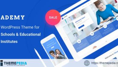 Education WordPress Theme – Ademy [Free download]