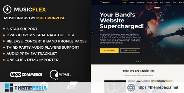 MusicFlex – WordPress Theme for Musicians [nulled]
