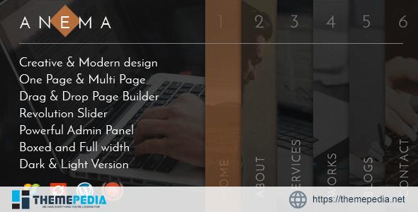 Anema – Creative OnePage & MultiPage WordPress Theme [Updated Version]
