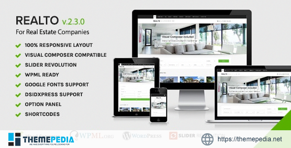 Realto – WordPress Theme for Real Estate Companies [nulled]