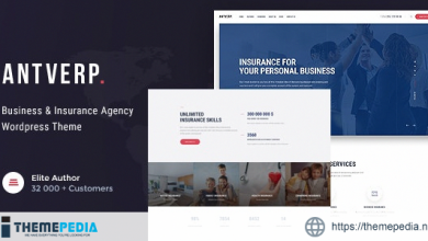 Antverp – An Insurance & Financial Advising WordPress Theme [nulled]