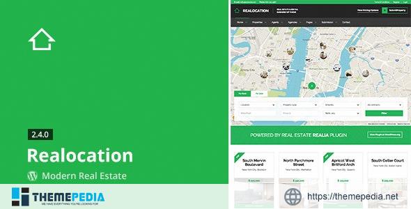Realocation – Modern Real Estate WordPress Theme [Free download]