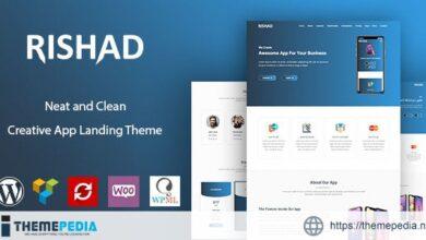 Rishad – App Landing WordPress Theme [Free download]