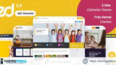 Ed School- Education WordPress Theme [Free download]