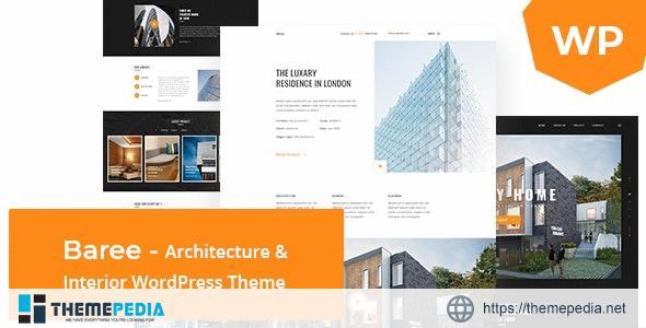 Baree – Architecture & Interior WordPress Theme [Free download]