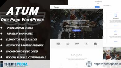 Atum – One Page WordPress [Free download]