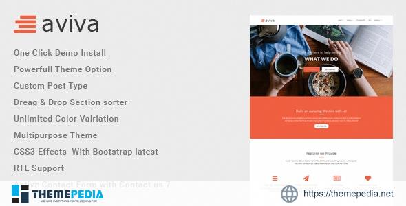 Aviva – Multipurpose WordPress Theme [Free download]