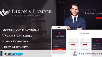Dixon & Lamber – Law Firm WordPress Theme [Free download]