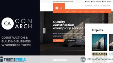 Con Arch – Construction & Building Business WordPress Theme [Free download]