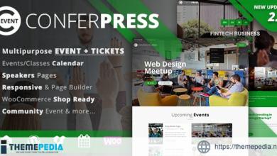 ConferPress – Multipurpose Event Tickets WordPress Theme [Updated Version]