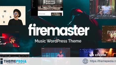 Firemaster – A Creative Music WordPress Theme [Free download]
