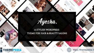 Ayesha – Hairdressers and Beauty Salons WordPress Theme [Updated Version]