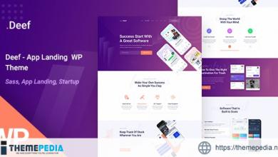 Deef – App Landing WordPress Theme [Free download]
