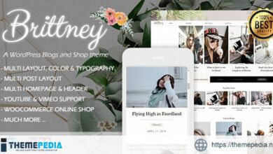 Brittney – A Responsive WordPress Blog and Shop Theme [Free download]