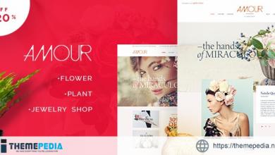 Amour – Shop WordPress theme – Flower – Jewelry – Handmade – Gift [Free download]