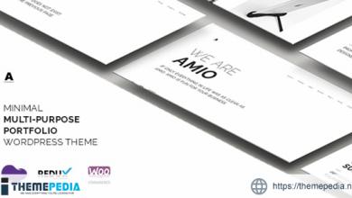 Amio – Minimal Multi-Purpose Portfolio WordPress Theme [nulled]