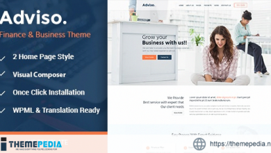 Adviso – Finance, Consulting, Business WordPress Theme [Free download]