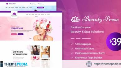 Beauty Salon Spa WordPress Theme [Free download]