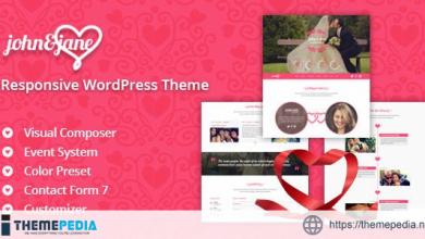 J&J – Responsive WordPress Wedding Theme [Free download]