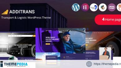 Additrans – Transport and Logistics WordPress Theme [Free download]