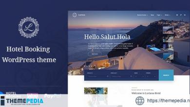 Hotel Booking WordPress Theme – Luviana [Free download]