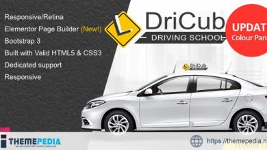 DriCub – Driving School WordPress Theme [Free download]