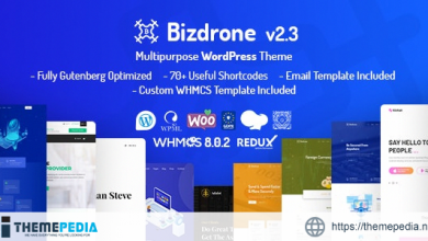 Bizdrone – ICO Crypto Landing & Cryptocurrency WordPress Theme with whmcs Template [Free download]