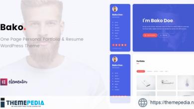 Bako – Personal Portfolio & Resume WordPress Theme [Free download]