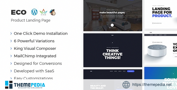 Eco – WordPress Product Landing Page [nulled]