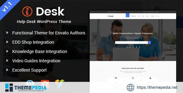 iDesk – HelpDesk WordPress Theme [Free download]