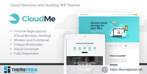 CloudMe – Cloud Storage & File-Sharing Services WordPress Theme [Latest Version]