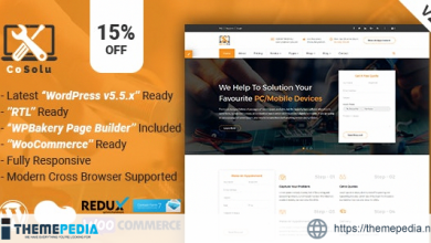 CoSolu – Multipurpose Servicing and Repairing WordPress Theme [Free download]