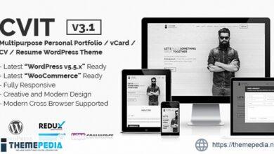 CVIT – Multipurpose Personal Portfolio – vCard – CV – Resume WordPress Theme [Updated Version]