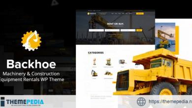Backhoe – Heavy Equipment Rentals WordPress Theme [Free download]