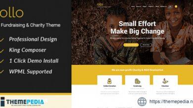 Ollo Fundraising & Charity WordPress Theme [Free download]