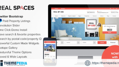 Real Spaces – WordPress Properties Directory Theme [Free download]