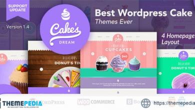 Cake Dream – Responsive Wordpress Woocommerce Theme [Free download]