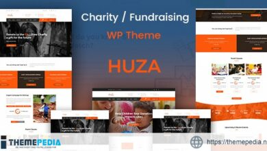 Huza – Charity Responsive WordPress Theme [Free download]