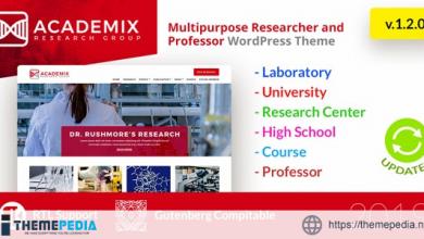 Academix – Multipurpose Education, Researcher and Professor WordPress Theme [nulled]