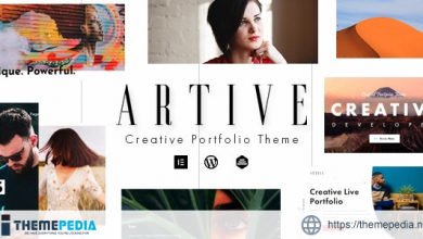 Artive – Creative Portfolio Theme [Free download]
