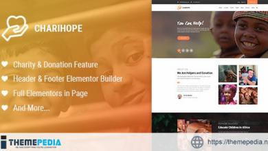 Charihope – Charity and Donation WordPress Theme [Updated Version]