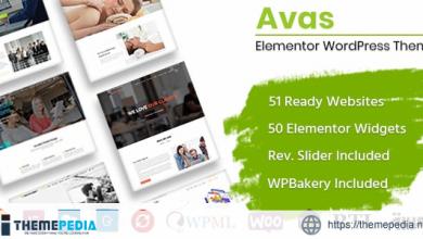 Avas – Elementor WordPress Theme [Free download]