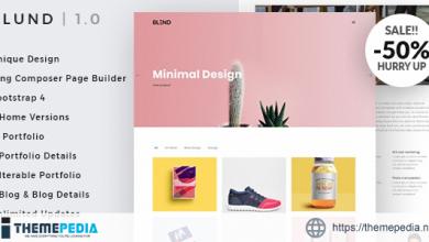Blund Minimal Portfolio WordPress Theme [Free download]